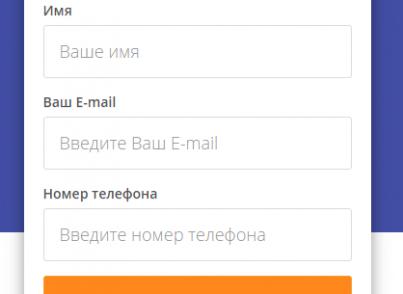 ЛидоГенератор - шаблон Landing Page