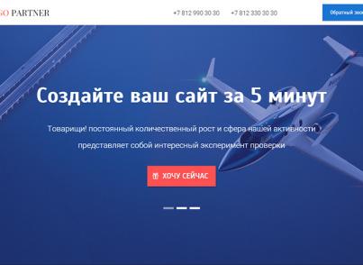 Партнер: Landing Page (одностраничный сайт услуг)